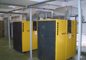 la sala de compresores